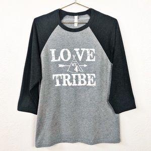 Bella Canvas Love My Tribe Raglan Sleeve Top